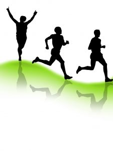 Runners Clip Art Green